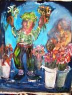 Florista  Técnica mixta / 120 x 100 cm / 2012