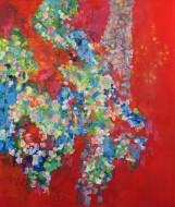 Alegría II Óleo sobre lienzo / 130 x 110 cm  / 2018