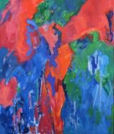 En Movimiento Óleo sobre lienzo /  130 x 110 cm / 2018