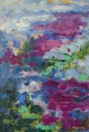 Estanque II Óleo y cera sobre tela / 060 x 040 cm / 2014