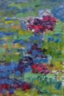 Estanque Óleo y cera sobre tela / 060 x 040 cm / 2014