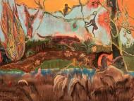 Alucinaciones a la Orilla del Rio  Técnica mixta sobre tela / 150 x 200 cm  / 2020