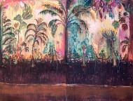 Alucinaciones a la Orilla del Rio  Técnica mixta sobre tela / 200 x 150 cm  / 2020