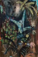 Alucinaciones a la Orilla del Rio  Técnica mixta sobre papel / 150 x 110 cm  / 2020