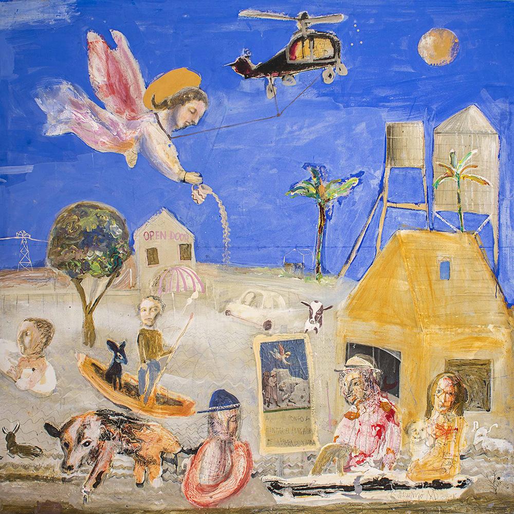 Cielo de Padova, Tierras y aguas de Luján Temple sobre tela / 200 x 200 cm / 2016