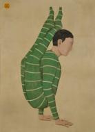 Acróbata verde  Acrílico sobre lienzo / 210 x 152 cm / 2016