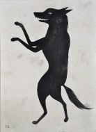 Lobo número 1  Acrílico sobre lienzo / 210 x 152 cm / 2016