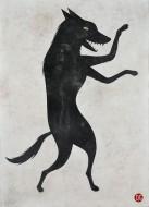 Lobo número 2  Acrílico sobre lienzo / 210 x 152 cm / 2016
