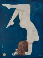 Acróbata sobre azul  Acrílico sobre lienzo / 200 x 150 cm / 2016