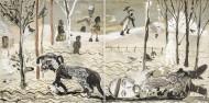 Díptico El Perro de Tarkovsky o La Pasion de Andrei Rubliev  / Técnica mixta -  80 x 160 cm - 2016