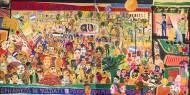 Díptico - La entrada de Francisco a Plaza Congreso o DariEnzo   Técnica mixta - 200 x 400 cm - 2016