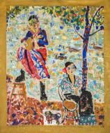 El Gaucho Au Bor de la Seine / Temple sobre tela / 190 x 160 cm / 2020