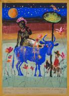 El Sueño de Garibaldi o Noche Oriental / Temple sobre tela / 120 x 80 cm / 2020