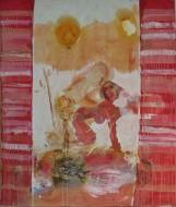 Eros Pompeyano / Temple sobre tela / 170 x 200 cm / 2018