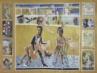 Le Collage Tango / Temple sobre tela / 145 x 200 cm / 2021