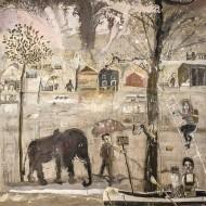 Los inundados o El Purgatorio Pampeano  Temple sobre tela / 279 x  260 cm / 2016