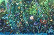 Mil Tragos del Hada Verde / acrílico y carbonilla sobre papel / 150 x 230 cm / 2021