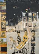 Soldati Night / Temple sobre tela / 200 x 150 cm / 2020