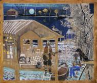 The Carapachay Blues / Temple sobre tela / 247 x 240 cm / 2020