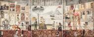 Tríptico Napolitano  Temple sobre tela / 140 x 360 cm / 2016