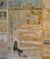 Ventana del MADA / Temple sobre tela /  170 x 200 cm / 2018
