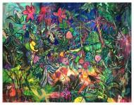 luminiscencia_de_otoño_oscuro-180x140cm-Acrílico,-Gouache-y-Pastel-sobre-Tela