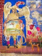 Ángel Arcabucero de Yavi  Temple sobre tela / 200 x 180 / 2016