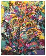 Flores para Vincent  Acrílico, Gouache y Pastel sobre Papel /  100 X 80 cm / 2016