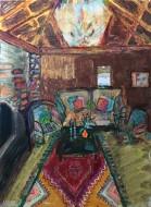 Resplandores (serie)   Acrílico, Gouache y Pastel sobre MDF / 40 X 30 cm  / 2017