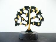 Arbol verde y láminas de oro 0.29 x 0.17 x 0.17 cm / Madera pintada con laca italiana /