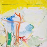 2004-80 Dejando las pertenencias Acrílico y oleo sobre tela / 200 x 200 cm /
