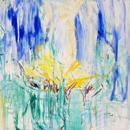 2006-44 Perfume / Acrilico y arena sobre tela / 200 x 200 cm /