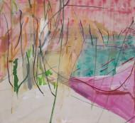 2007-52 Sin titulo / Técnica mixta sobre tela / 110 x 120 cm /