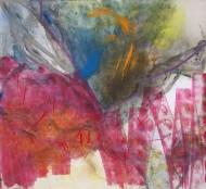 2008-58 Sin titulo / Técnica mixta sobre tela / 120 x 130 cm /