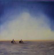 A la Aventura / Oleo sobre tela / 110 x 110 cm / 2013