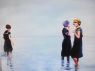 Bañistas / Oleo sobre tela / 120 x 150 cm / 2015