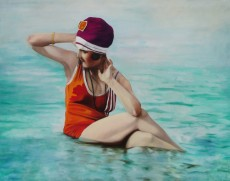 La Bañista del Turbante / Oleo sobre tela / 114 x 145 cm / 2013