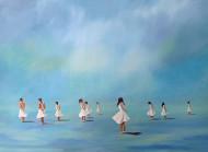 Dance Blue / Oleo sobre tela / 80 x 150 cm / 2020