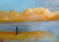 Sin Paraguas / Oleo sobre tela / 130 x 180 cm / 2020