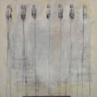 Sin Título técnica mixta sobre tela / 150 x 100 cm /