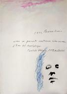 Borges técnica mixta sobre papel / 100 x 70 cm /