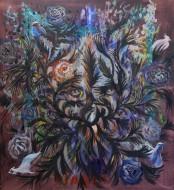 Diablo de Carnaval / Óleo sobre tela / 100 x 90 cm / 2021