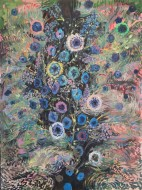 El Sueño de los Pájaros Azules / Oleo sobre tela / 200 x150 cm / 2018