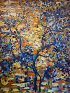 Flores Azules / Oleo sobre tela / 200 x150 cm / 2021