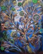 Verdes / Oleo sobre tela / 150 x 120 cm / 2020