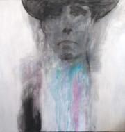 Joseph Beuys técnica mixta sobre tela / 150  x 100 cm /