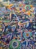 Rhodéa/ Oleo sobre tela / 200 x150 cm / 2019