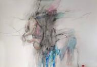 Sin Título técnica mixta sobre papel / 110 x 84 cm /