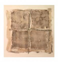 Sin Titulo Pigmentos, Lino y Alpaca sobre lienzo / 110 x 115 cm / 2020